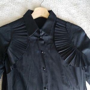 Miu Miu by Prada ruffled cotton blouse